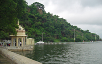 fateh sagar lake, lakes, udaipur, rajasthan, india